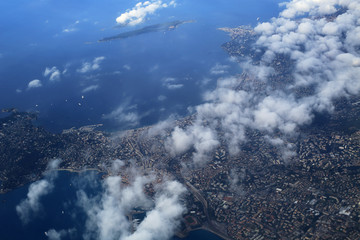 French Riviera, the view from the plane