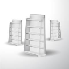 Blank supermarket shelf display