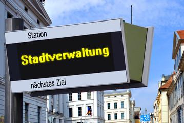 Anzeigetafel 7 - Stadtverwaltung