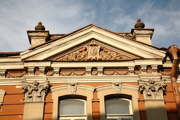 A fragment of the house in Vilnius Old Town