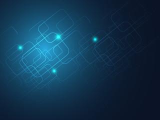 blue line rectangle background vector