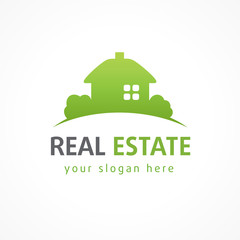 Real estate logo village green