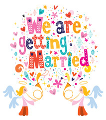 We Are Getting Married wedding invitation card