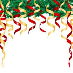 Christmas Tree and streamers