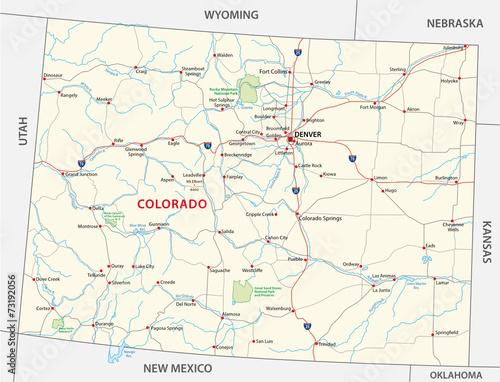GamesAgeddon - colorado road and national park map - Lizenzfreie ...