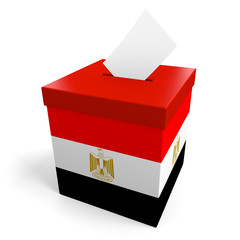 Egypt election ballot box for collecting votes