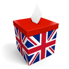United Kingdom ballot box for collecting election votes