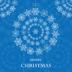 Abstract background with Christmas decorations of snowflake