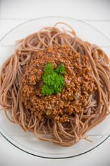 Vollkorn Spaghetti Bolognese