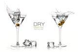 Dry Martini Cocktails. Splashes. Design Template