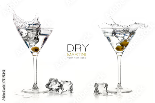 Fototapeta Dry Martini Cocktails. Splashes. Design Template