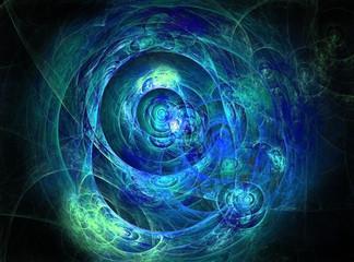 bright blue fractal background