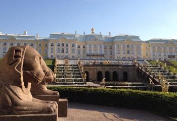 Вид на Большой дворец. Петергоф