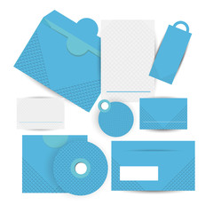 corporate business identity with blue elements.