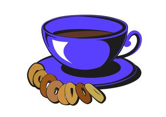 кофе,сушки