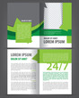 Vector empty brochure print template green eco design