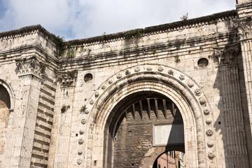 The medieval Door of St. Pietro - Perugia