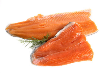 trout and salmon fillet