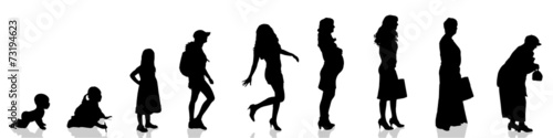 Vector silhouette of woman. - 73194623