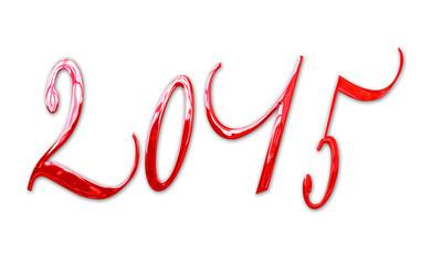 2015, elegant shiny 3D red metal letters