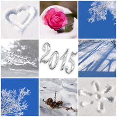 2015, snow and winter photos collage