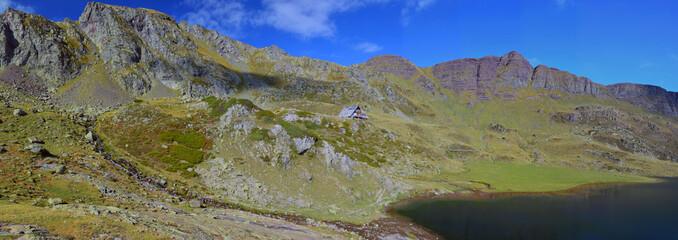 Peak d'Ayous panorama in the valley d'Ossau of Atlantic Pyrenees