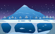 Fishing on Ice in Winter Landscape - 73195465