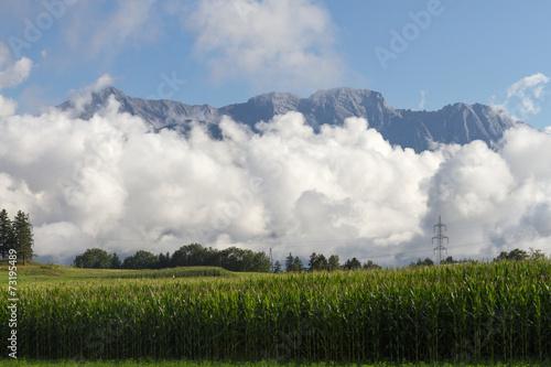 canvas print picture Wolken im Hochgebirge - Tirol
