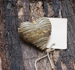 Decorative heart and Card