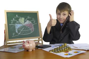 boy develops business strategy home finance
