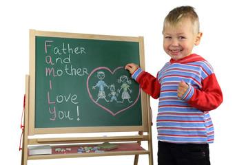 Boy and family values
