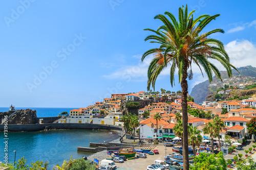 Port in fishing village of Camara de Lobos, Madeira island - 73196096