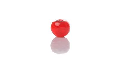 Preserved cherry fruit over white background