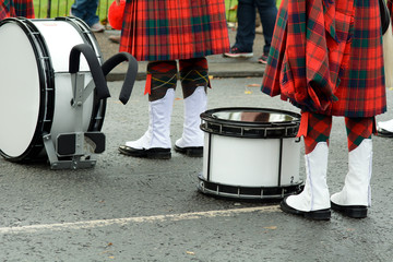 Scottish Marching Band drums
