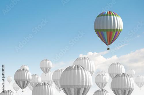 Staande foto Ballon Aerostats in sky