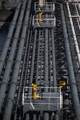 deck and pipelines supertanker