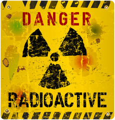 radioactivity  warning, vector illustration