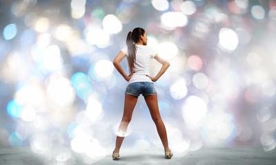 Girl in shorts