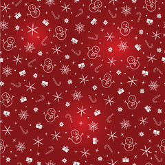 christmas vector red seamless pattern