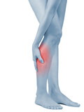 Pain in woman hamstring poster