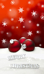 Christmas background - Christmas Ornament red - Snow