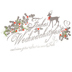 Weihnachtsgruss / Frohes Weihnachtsfest