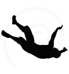 illustration of senior climber man silhouette