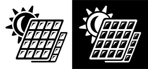 Solar battery icon