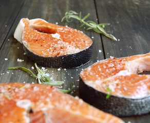 Fresh a salmon fillet