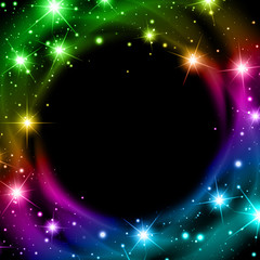 Multicolored Night Star Background