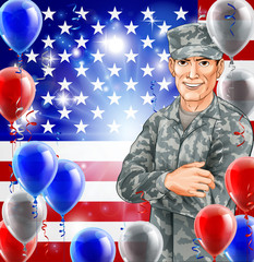 USA Soldier Illustration