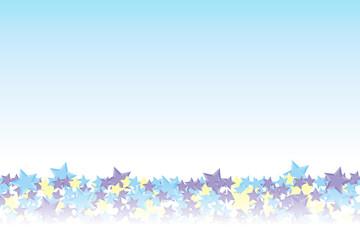 背景素材壁紙(地面に積もった星, カラフル, 虹)