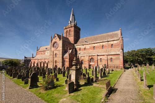 Leinwandbild Motiv St Magnus Cathedral, Kirkwall, Orkney, Scotland