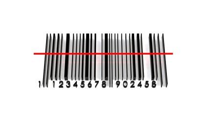 barcode 3d illustration